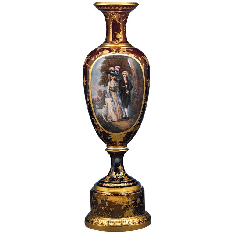 Royal Vienna Porcelain Vase For Sale