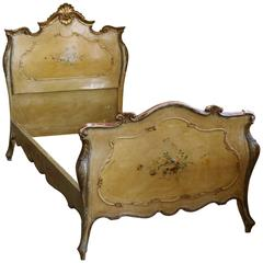 Single Italian Rococo Painted Bed