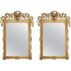 Napoleon III Pair of Giltwood Mirrors