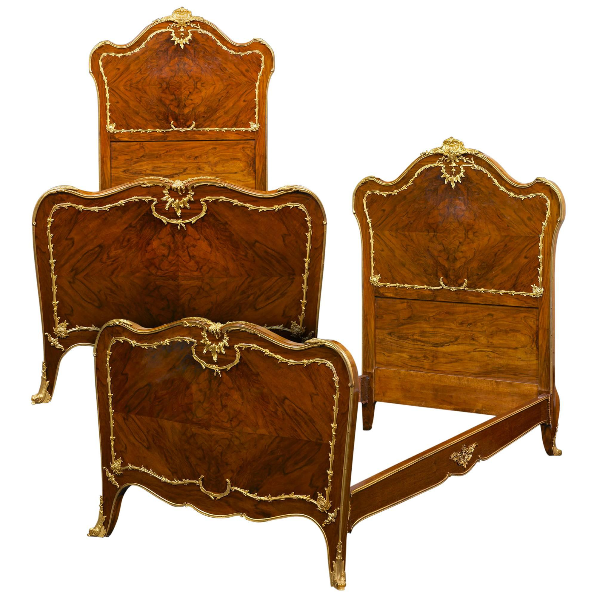 Rococo Style Pair of Twin Beds