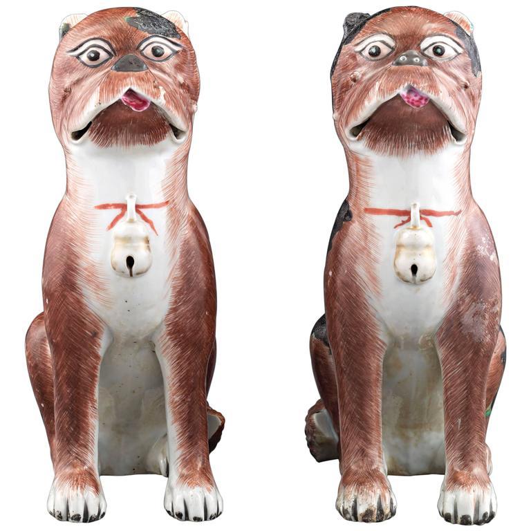 Porcelain Chinese Pug Dog