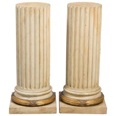 Pair of Classical Fluted Columns