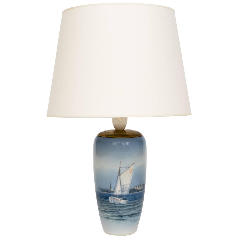 royal copenhagen ceramic nautical lamp for sale at 1stdibs. Black Bedroom Furniture Sets. Home Design Ideas