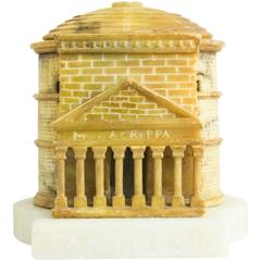 Colorful Grand Tour Architectural Model of the Pantheon, Rome, circa 1880