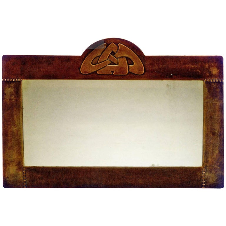 Mirror by Archibald Knox England, Arts & Crafts, England, 1903 For Sale