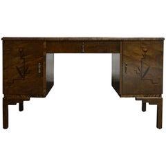 Swedish Inlaid Art Deco Executive Desk