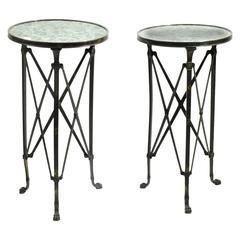 Pair of Tables Style of Raymond Subes, France, Art Deco, circa 1930