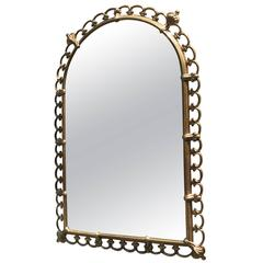Sculptural Brass Italian Wall Hanging Chiavari Mirror
