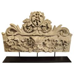 Patinated Terra Cotta Architectural Piece on Stand, France, circa 1900