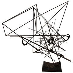 Mid-Century Modernist Abstract Angular Sculpture