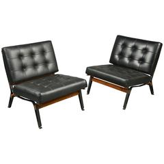 Pair of Chairs by Ico Parisi, Cassina Production, Italy, circa 1958