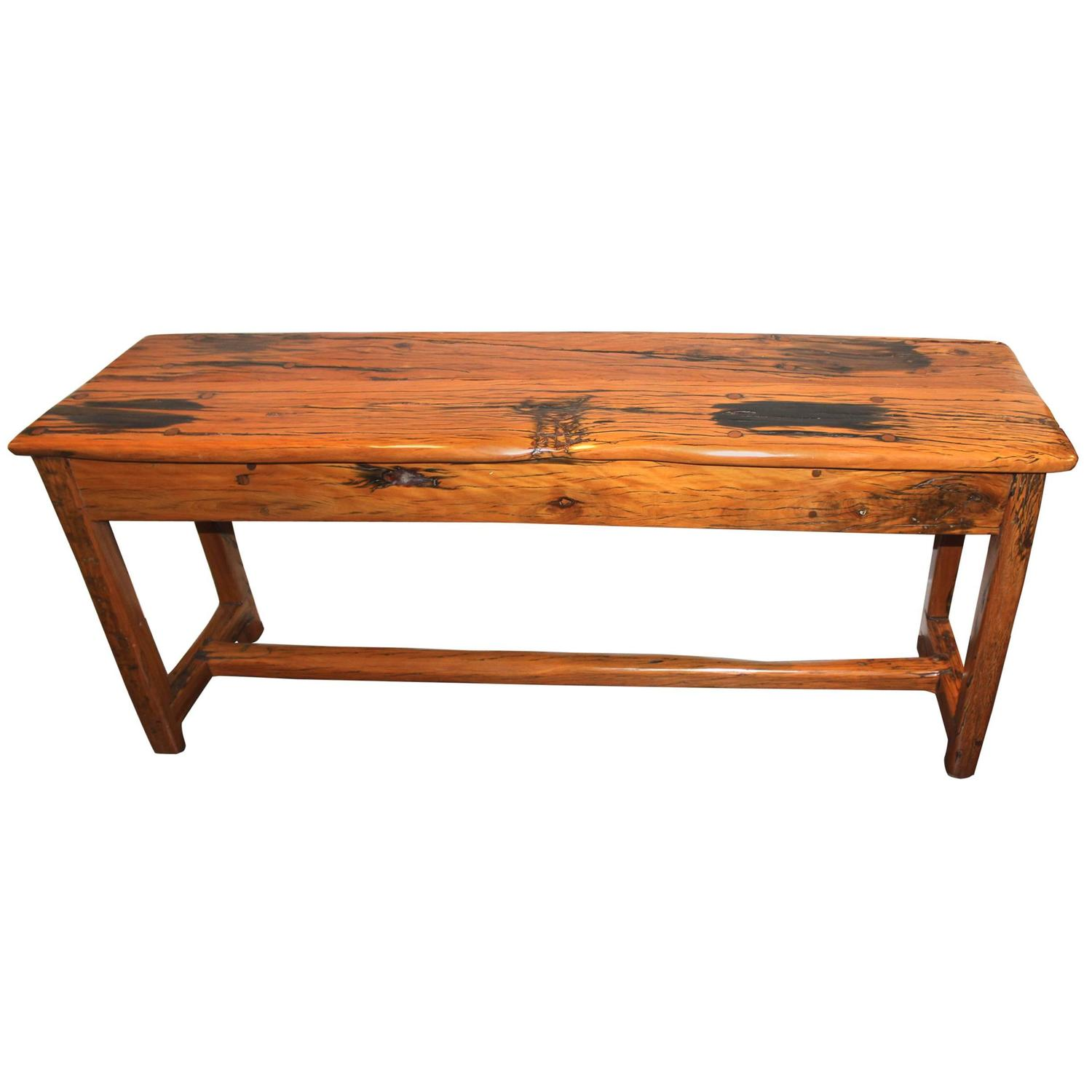 Rare 20th century elephant wood sofa or hall table at 1stdibs for Sofa central table