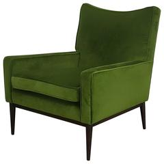 Lounge Chair by Paul McCobb in Lush Green Velvet, 1950s