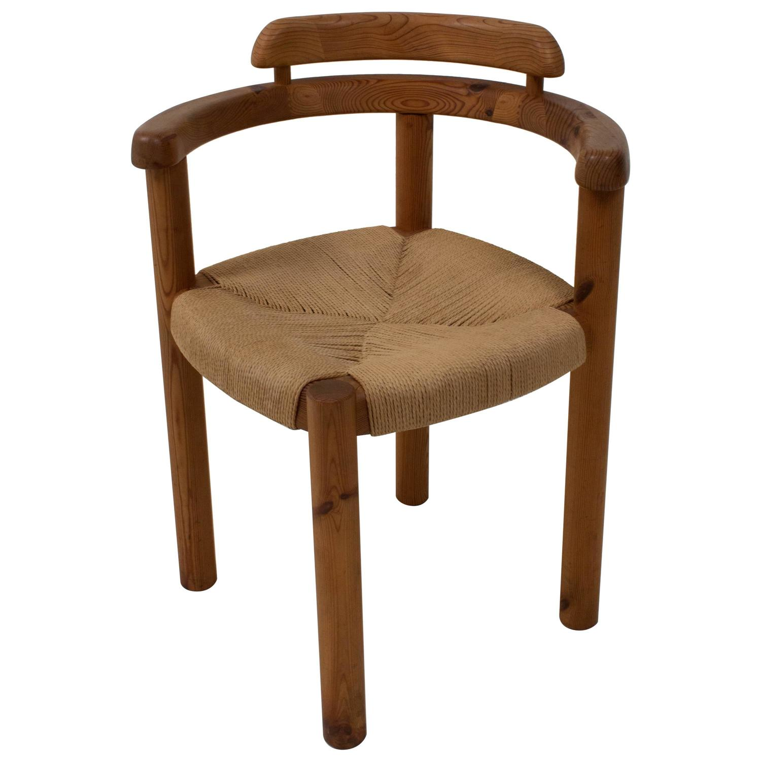 Charmant Stylish Mid Century Modern Corner Chair In The Style Of Rainer Daumiller,  1970s At 1stdibs