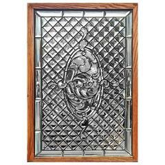 American Specimen Jeweled and Beveled Glass Window