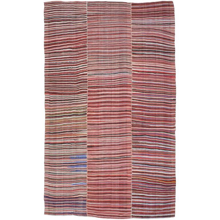 Striped Mazanderan Kilim 1