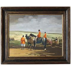 Large Sporting Painting by William N. Gaunt