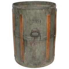 Antique Rustic Metal Bucket
