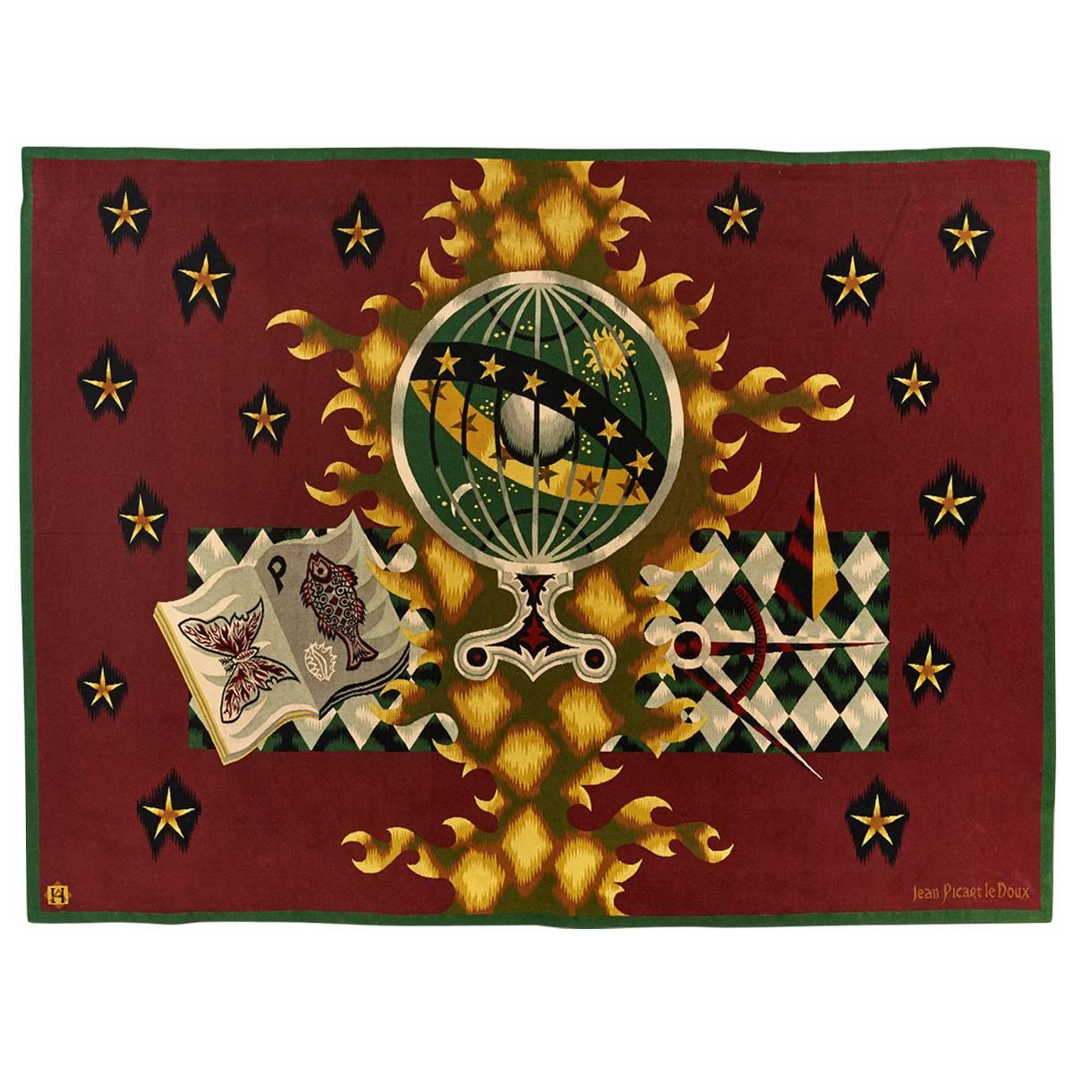Superb Picart Le Doux Aubusson Wool Tapestry, 1961