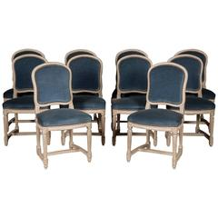 Set of Ten 19th Century Painted Chairs