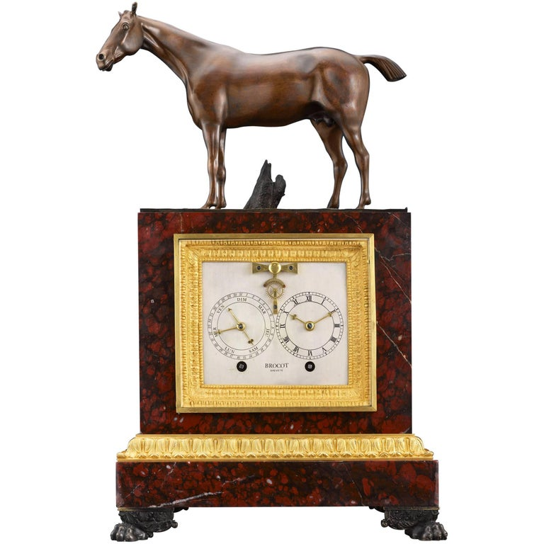 Napoleon III Sculptural Mantel Clock For Sale