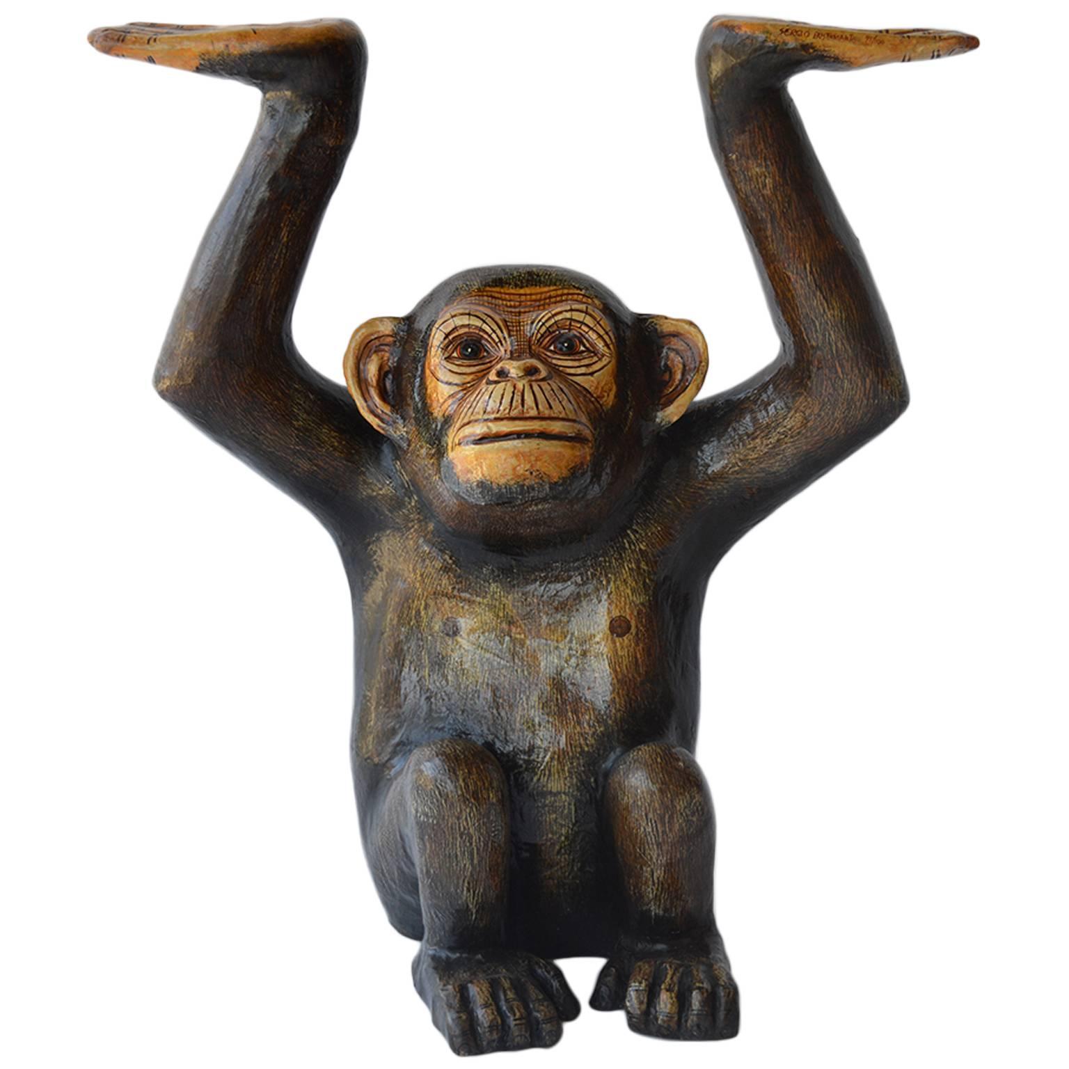 Papier Mâché Chimpanzee by Sergio Bustamante