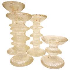 Set of Four Festivo Candleholders Designed by Timo Sarpaneva for Iittala