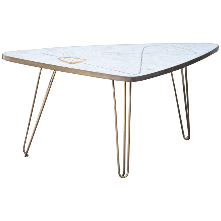 Mosaic Triangle Coffee Table By Berthold M Ller Germany At 1stdibs