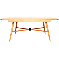 Mid-Century Modern Maple Table Attributed to McCobb