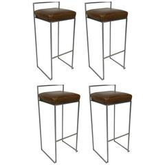 Set of Four Minimalist Modern Bar Stools by LaPalma, Italy