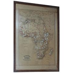 Large 1900s Relief Map of Africa