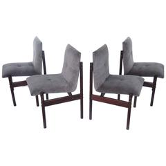 Four Rosewood Dining Chairs by Celina Moveis, Brazil 1960s
