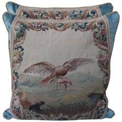 Pair of 19th Century Aubusson Textile Pillows