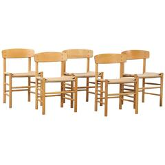 Set of Børge Mogensen Peoples Chairs