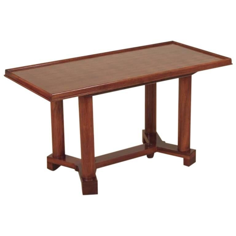 Jules Leleu Parquetry-Top Coffee Table