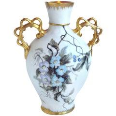 Remy Delinieres & Co. Vase 22-Karat American Amateur Painted