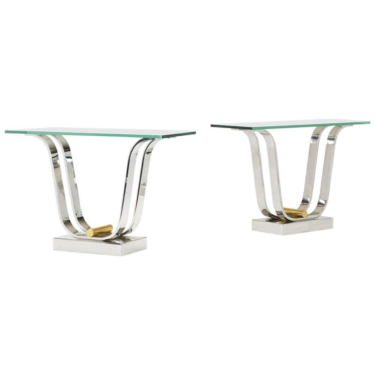 Karl Springer Console Dining Table For Sale