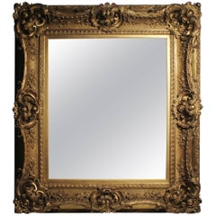 Antique Italian Gilt 19th Century Picture Frame or Mirror Baroque Rococo Style
