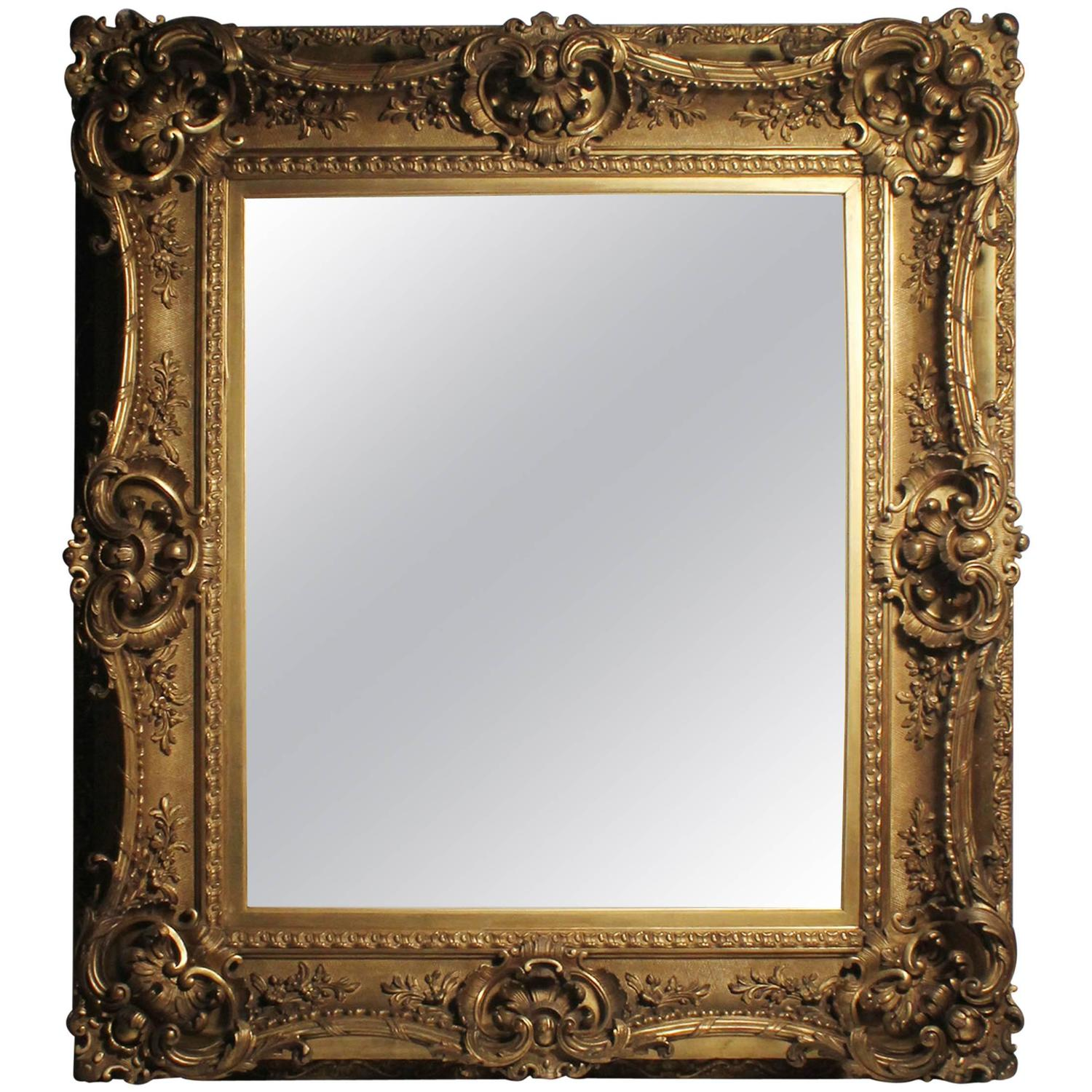 antique italian gilt 19th century picture frame or mirror baroque rococo style for sale at 1stdibs. Black Bedroom Furniture Sets. Home Design Ideas