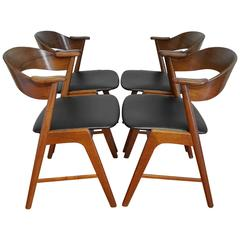 Set of Four Kai Kristiansen Dining Chairs for Korup Stolefabrik