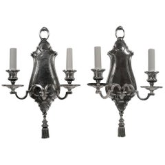 Pair of Early Georgian Style Two-Light Sconces by E. F. Caldwell