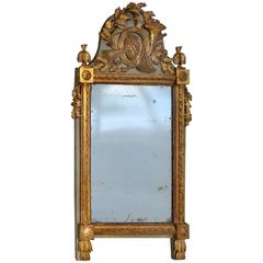 Large Early 19th Century Carved Giltwood Mirror