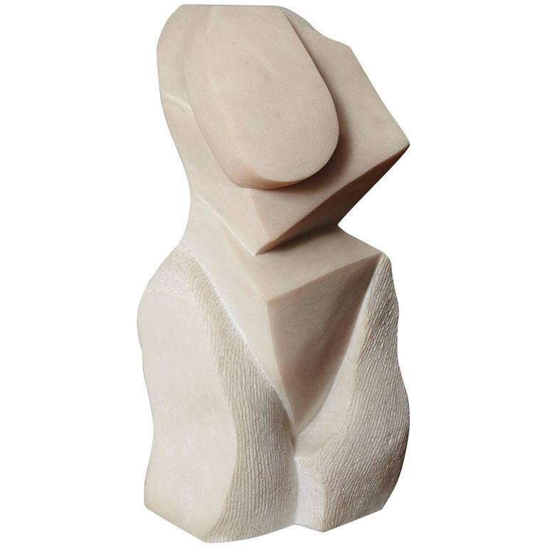 """Artemis"" Modern Portuguese Pink Marble Sculpture by Dolores Singer, 1990"