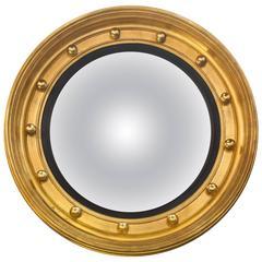Large Federal Gilt Convex Mirror