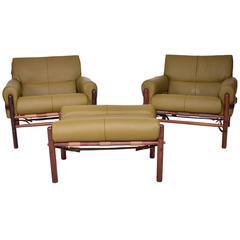 """Arne Norrel """"Kontiki"""" Pair of Safari Chairs"""