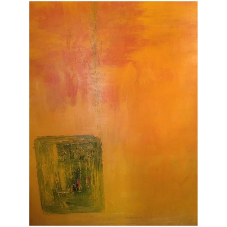 Large Acrylic on Canvas Abstract Painting