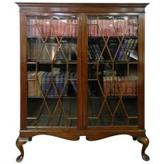 Mahogany Astragal Glazed Bookcase