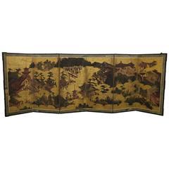18th Century Six-Fold Japanese Screen
