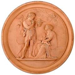 P. Ipsen's, Copenhagen, Plaque in Fired Clay/Terracotta