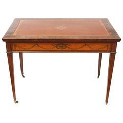Sheraton Style Satinwood Writing Table